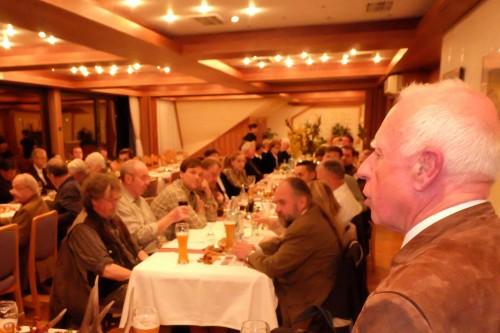 Festredner Prof. Dr. Rohmann (rechts) erinnerte mit deutlichen Worten an die geplanten Verschärfungen im hessischen Jagdrecht.