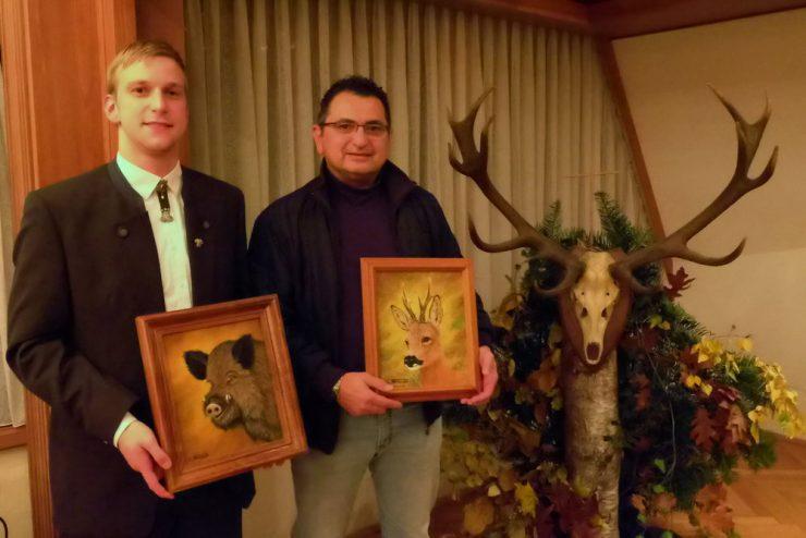 Die Sieger beim Keilerschießen: Johannes Arend (links) und Dr. Amro Koch (rechts)